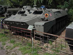 MT-LB armored personnel carrier at the Muzeum Polskiej Techniki Wojskowej in Warsaw (3).jpg