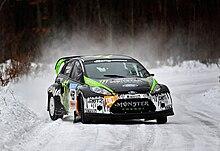Block durante un test con la Ford Fiesta RS WRC nel 2010