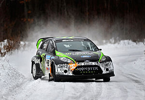 Ken Block - Block testing Ford Fiesta for the 2010 Rally America season