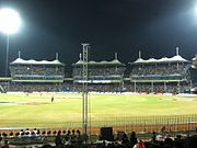 M A Chidambaram Stadium in night during IPL 2011