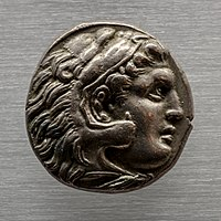 Macedonia - king Kassandros - 316-297 BC - silver tetradrachm - head of Alexander III - Zeus aetophoros - München AS.jpg