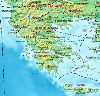 Macedonia (Roman province) - Roman provinces, 400