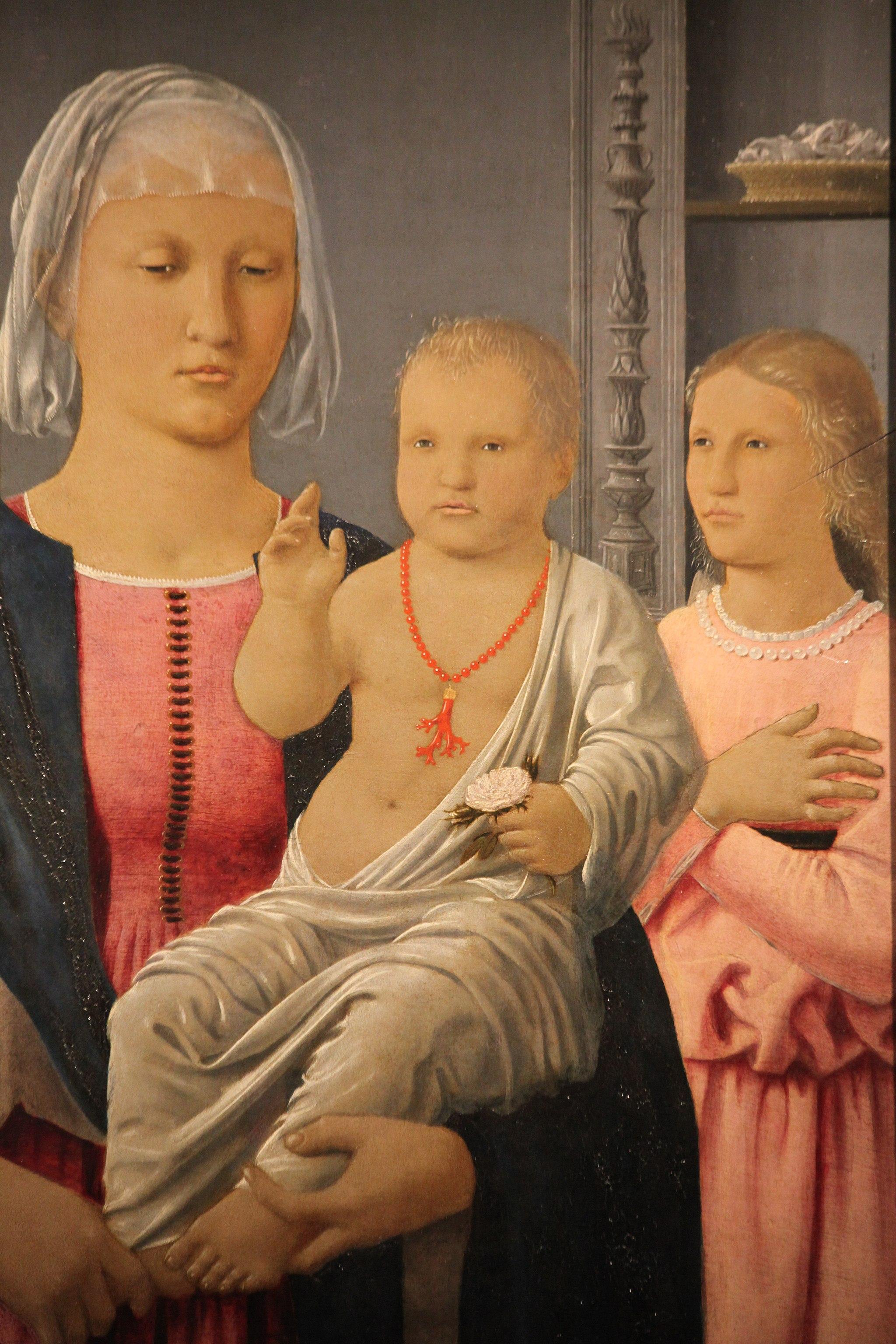 Madonna di Senigallia di Piero della Francesca, 1470-85,3