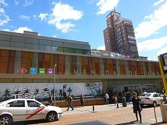 Avenida de América (Madrid Metro) - Exterior of the Avenida de América bus terminal
