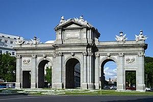Puerta de Alcalá - West side, front view