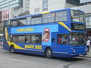Magic Bus (Stagecoach) - Alexander ALX400 bodied Dennis Trident 2 at Manchester Piccadilly bus station in April 2010