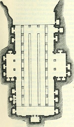 Ellora Caves - Plan of Cave No. 5 (Mahawara Cave)