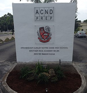 Archbishop Curley-Notre Dame High School - Main entrance to ACND Prep