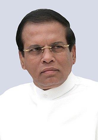 President of Sri Lanka - Image: Maithripala Russia (portrait)