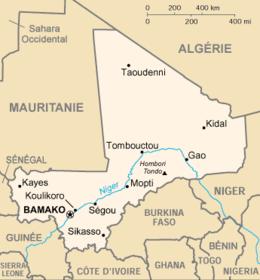 Mapa  República do Mali