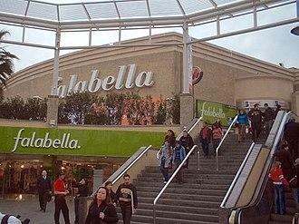 Falabella (retail store) - Image: Mall Plaza Vespucio Entrada Poniente