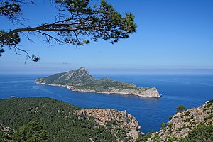 Dragonera - View of Sa Dragonera from nearby Majorca.
