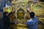Mandylion icon in Sretensky Monastery (Moscow) 05.png