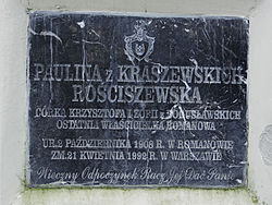 Manor of Kraszewski family in Romanów – Chapel - Epitaphs - 06.jpg