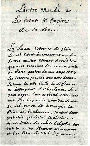 Первая страница автографа «Государства и империй Луны»