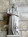 Mantes-la-Jolie (78), collégiale Notre-Dame, chapelle du Saint-Sacrement, statuette de Jeanne de France, femme de Philippe de Navarre comte d'Évreux.JPG