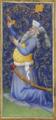 Manuel II Palaiologos as Augustus, Très Riches Heures du duc de Berry, fol. 22r.png