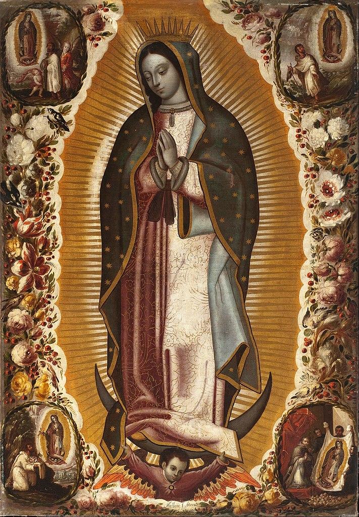 Virgin of Guadalupe (Virgen de Guadalupe) de Manuel de Arellano (1691).