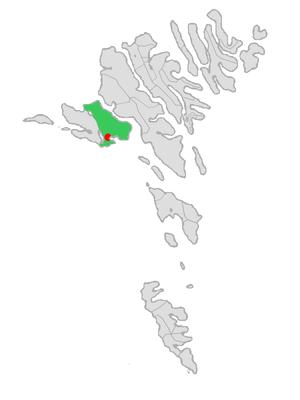 Vágar Municipality - Image: Map position vaga kommuna 2009