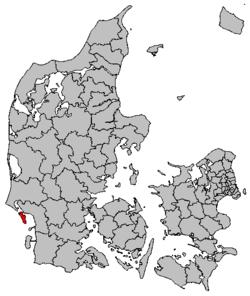 Lokalisering af Fanø Kommune