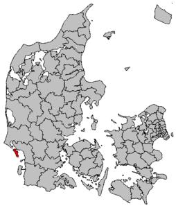 Location of Fanø