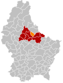 Location of Diekirch in Luxembourg