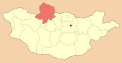 Хөвсгөл тодруулагдсан газрын зураг