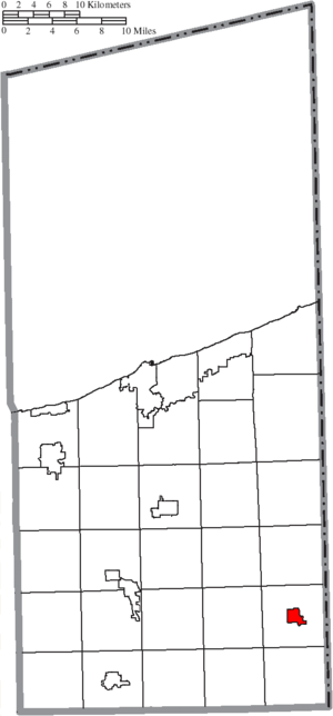 Andover, Ohio - Image: Map of Ashtabula County Ohio Highlighting Andover Village