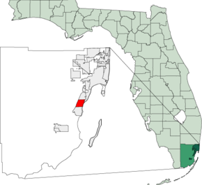Map of Florida highlighting Palmetto Bay.png