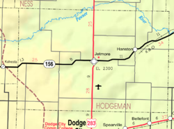 KDOT map of Hodgeman County (legend)