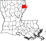 State map highlighting Madison Parish