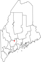 Location of city of Waterville in map of Maine