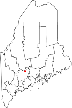 Location of Waterville In Maine
