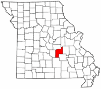 Map of Missouri highlighting Phelps County.png