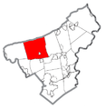 Map of Moore Township, Northampton County, Pennsylvania Highlighted.png