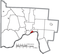 Location of New Boston in Scioto County