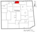 Map of Tioga County Pennsylvania Highlighting Nelson Township.PNG