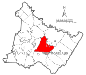 Unity Township, Westmoreland County, Pennsylvania - Image: Map of Westmoreland County, Pennsylvania Highlighting Unity Township