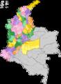Mapa de Colombia (provincias según el DANE).png