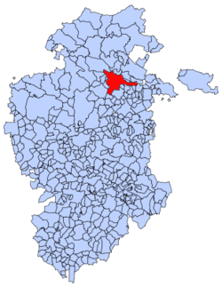 Municipal location of Oña in Burgos province