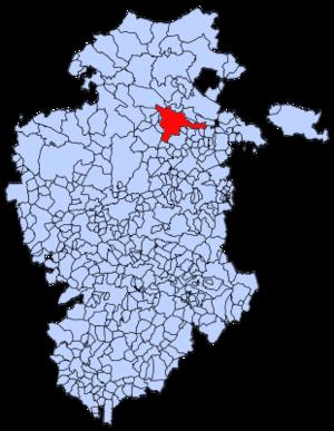 Oña - Image: Mapa municipal Oña