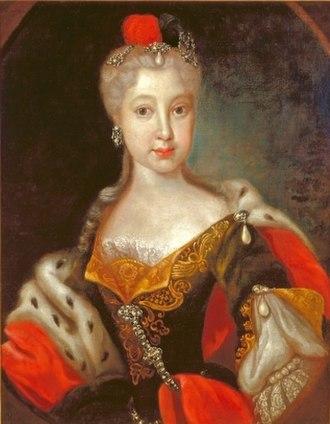 Countess Palatine Maria Franziska of Sulzbach - Image: Maria Franziska of the Palatinate Sulzabch, countess of Zweibrücken Birkenfeld