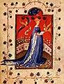 Maria d'Harcourt as Virgin - Prayer book of Maria d'Harcourt - Staatsbibliothek zu Berlin MsGermQuart42 - f19v.jpg