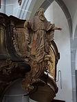 Marienstiftskirche Lich Kanzel Bernhard von Clairvaux 01.JPG