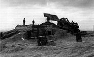 Marines build an ammunition bunker at Con Thien, January 1968