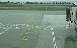Markings on tarmac for plane alignment.jpg