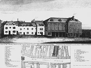 United Kingdom insolvency law - The Marshalsea debt prison, one of numerous London prisons, where insolvent debtors including Charles Dickens' father, was closed after the Debtors Act 1869. Imprisonment for debt is now contrary to the ECHR, Protocol 4, article 1.