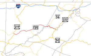 Maryland Route 135 - Image: Maryland Route 135 map