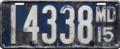 Maryland license plate, 1915.png