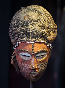 Mask - Kuba or Kete - DRC - Royal Palace, Brussels.JPG